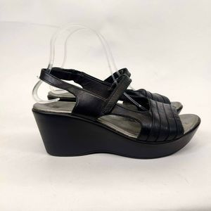 NAOT Leather Slingback Wedge Sandals Shoe 40 / 9